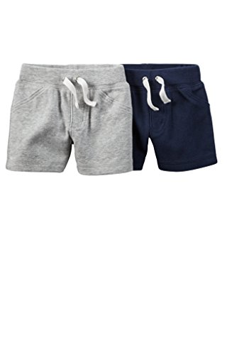 Carter's Baby Boys 2 Pack Soft Cotton Shorts (24 months) Navy/Gray (Soft Cotton Short)