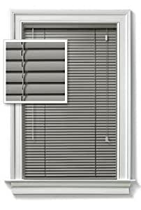 Amazon Com Achim Gray Vinyl 1 Quot Mini Blinds 23 Quot Wide X