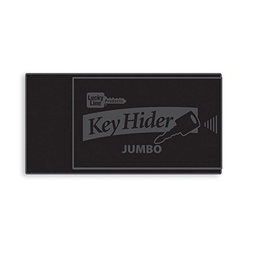 Lucky Line Jumbo Magnetic Key Hider, Black, 1 Pack (91501) for Extra Large Keys and Transponders