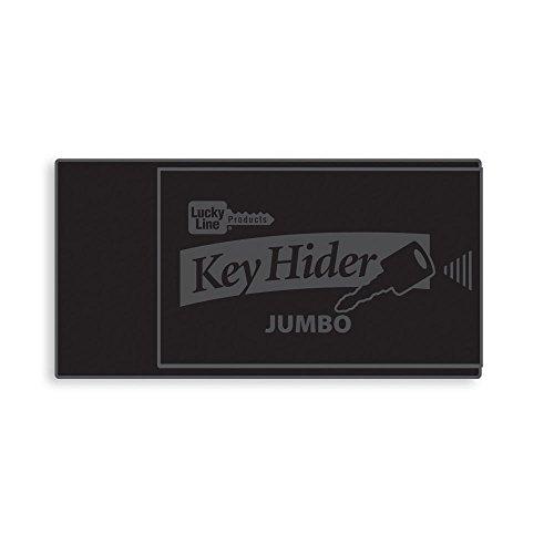 Lucky Line Jumbo Magnetic Key Hider, Black, 1 Pack (91501) for Extra Large Keys and Transponders