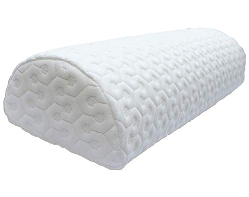 - Joey's Room Half Moon Pillow | Bolster Leg Elevation Lower Back Knee Support Side Sleeper | Honeycomb Heavyweight Removable Washable Cover