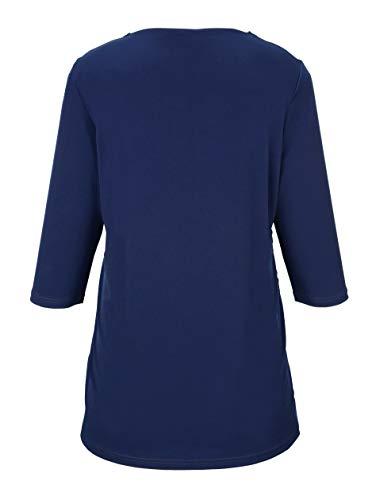 aus Vorne collection Keine Nicht Damen Samt m mit Longshirt Muster by relevant Royalblau SXqTf0T