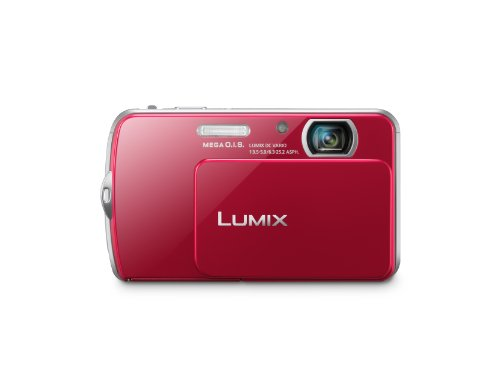 DMC-FP7 Lumix 16.1MP 4X 3.5in LCD Digital Camera Red -