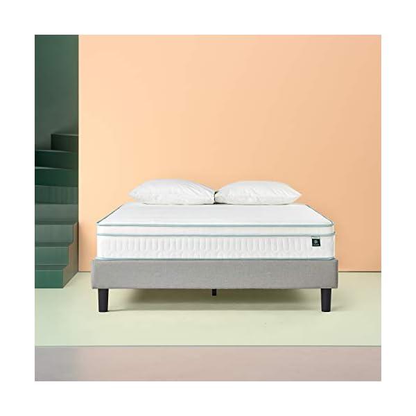 Zinus Materasso Matrimoniale Francese Ibrido con molle e Memory Foam, Certificato Oeko-Tex, 140x190x20cm 4 spesavip