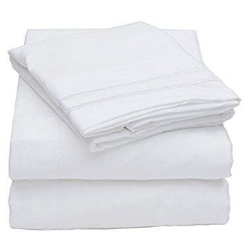 White Queen Size TENCEL Sheet Set - Silky Soft, Refreshing and Eco-Friendly - 4 pc