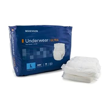Adulto desechables Ultra ropa interior pañales absorbencia, grande, pesada, Pull On, MCKESSON