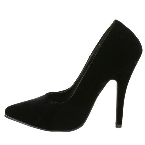 De Zapatos Vel blk Tacón 420 Mujer Para Pleaser Seduce Negro tqzAxwWOE