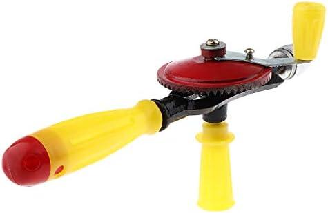 ideal f/ür Kinder sichere Handbohrer Yuema Handbohrer Mini Bohrmaschine mit 14 Spiralbohrer 1.5mm-10mm 1//4 Inch mit Doppelritzeln Design manuelles Bohrwerkzeug