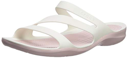 4 On Crocs rose white Sandal Croslite Swiftwater Slip Dust White 4 Women's Size O7fqpB7wS