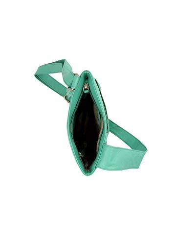 Tassel Grained Alexis Women's w Bag Aqua Body Detail Cross Soft Leather Pocket wzEqdEZ