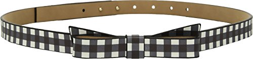 Darling Belt (Kate Spade New York Women's 5/8 Gingham Printed Classic Bow Belt Black MD)