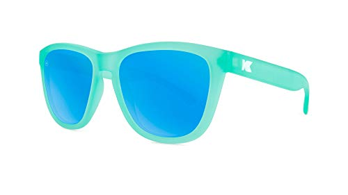 Knockaround Premiums Polarized Sunglasses With Translucent Mint Green Frames/Blue Reflective Lenses]()