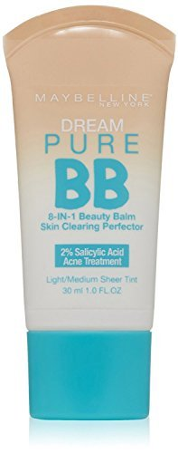 Maybelline New York Dream Pure BB Cream 8-in-1 Skin Clearing Perfector, Light/Medium 1 oz (Pack of 2) (Maybelline Dream Pure Bb Cream Light Medium)