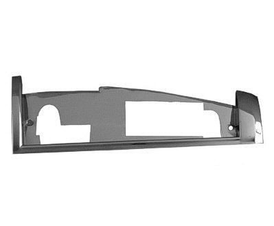 Jeep Grille Cherokee Extension - New Left Driver Side Grille Extension For 1984-1990 Jeep Cherokee, Chrome CH1212101