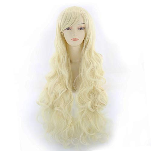 Komifa Cosplay Wigs for Women, Synthetic Hair Anime Wig Curly Long Wig (Blonde / 80cm) (Best Cosplay Wig Stores)