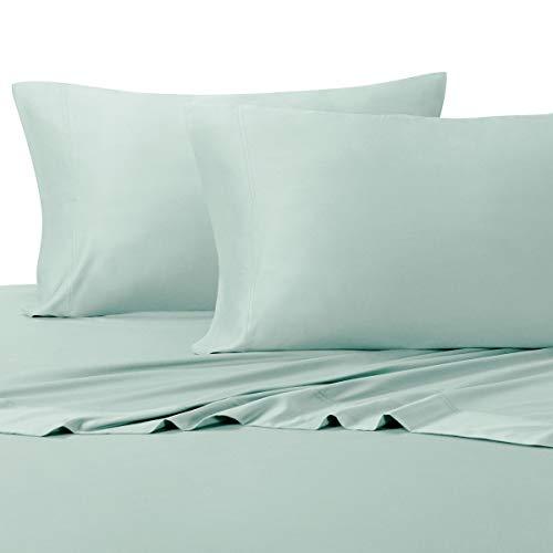 Royal Tradition 100 Percent Bamboo Bed Sheet Set, California King, Solid Sea, Super Soft and Cool Bamboo Viscose 4PC Sheets