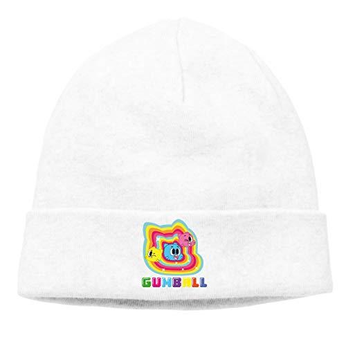 MUtang The Amazing World of Gumball Skull Hats Knitted Cap Beanie White
