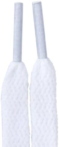 12本 6足 靴ひも 靴アクセサリー ポリエステル 幅8mm (140cm, ホワイト)