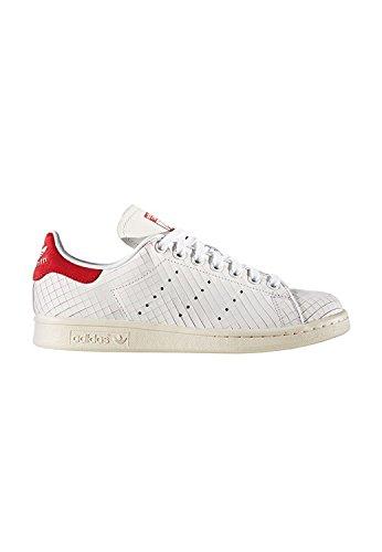adidas Stan Smith W Womens Fashion-Sneakers S32258_6.5 - White/Red