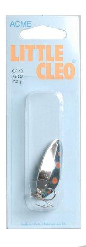 Acme Little Cleo Fishing Terminal Tackle, 1/4-Ounce, Orange Blue Nickel