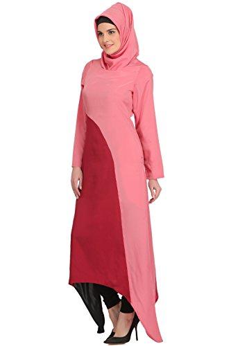 süße und Crepe 505 AY rosafarbene Abnutzungs Formale moslemische Abaya beiläufige kurze MyBatua u dqtgwW5x