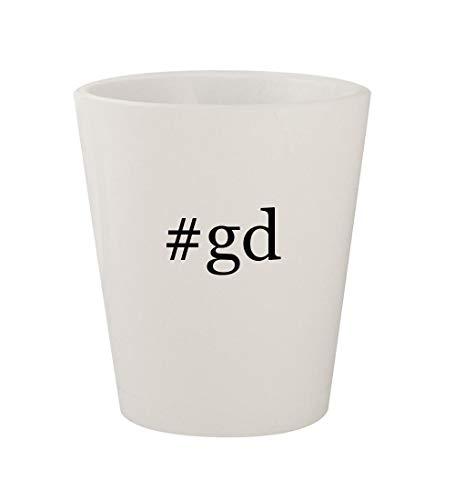 #gd - Ceramic White Hashtag 1.5oz Shot Glass (Griffeys Air Max 2)