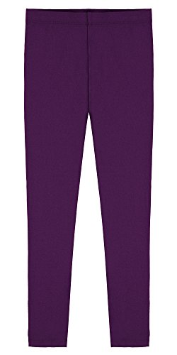 Popular Little Girl's Cotton Ankle Length Leggings - Purple - 6