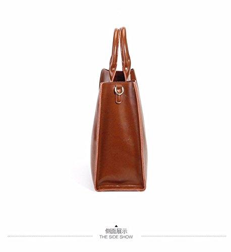 35460173eccbe ... Taschen Damen Leder 2018 Neu Elegant Große Handtasche Europäische stil  Schultertaschen Umhängetasche Shopper Tasche Henkeltasche Beuteltasche ...