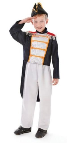 Admiral Lord Nelson Childs Fancy Dress Costume - Size M 128cms  sc 1 st  Amazon UK : admiral jacket costume  - Germanpascual.Com
