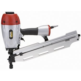 3-in-1 Air Framing Nailer with adjustable magazine for 2 to 3-1/2 clipped or full-head nails collated at 21°, 28° and 34° by Central Pneumatic -
