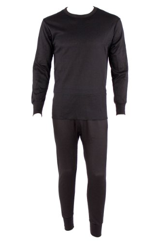 Stay Warm 100% Cotton 2 Piece Top And Bottom Thermal Set w/ Temperature Control