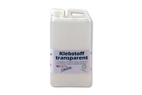Bastelkleber 1000g Klebstoff 1kg Bastelleim flüssig transparent