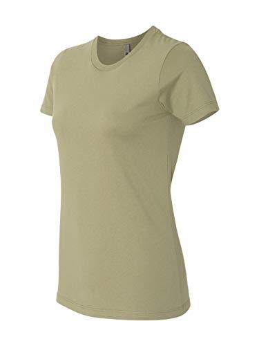 (Next Level Signature Style The Boyfriend Jersey T-Shirt, Light Olive,)
