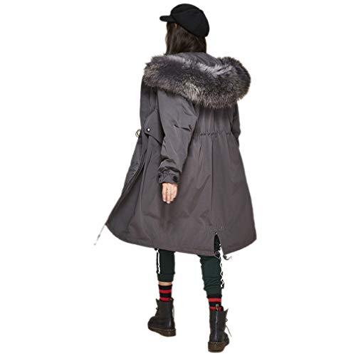 cappotto Donna Pesante Campeggio parka Qualità Capispalla Con abbigliamento Per Giacca sport Gray casual Cappuccio alta Invernali Cappuccio Invernale Allentato Lungo escursionismo Moda SAntx7