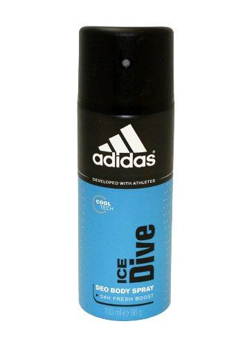 Adidas Ice Dive 24 Heures nouvel élan cool Tech Déodorant vaporisateur pour le corps pour les hommes, 4 onces