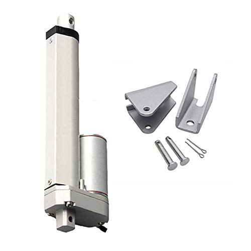 GUWANJI 12V DC 400mm 16 Inch Stroke Classic Rod Linear Actuator 400N/40KG/88lbs 20mm/s Lift with Mounting Brackets