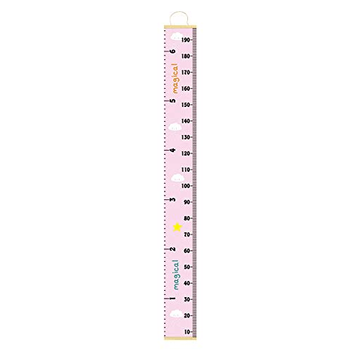 Lovewe Baby Growth Chart Handing Ruler Wall Decor for Kids, Canvas Removable Height Growth Chart 79''x7.9'' -