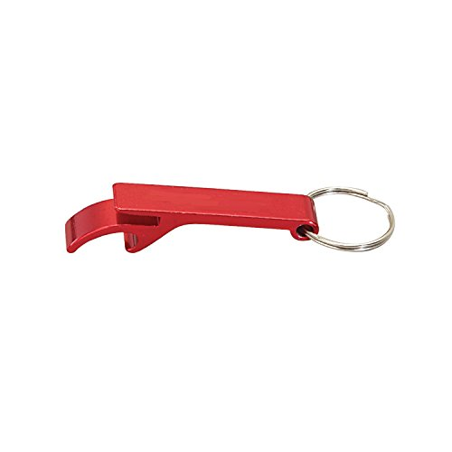 Klaw Ring - Thirsty Rhino Klaw, Compact Anodized Aluminum Bottle Opener Keychain Key Ring, Red (Set of 1)
