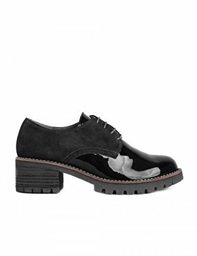 Charol Zapatos Negros Zapatos Cordones Charol SALONISSIMOS 48nwSq