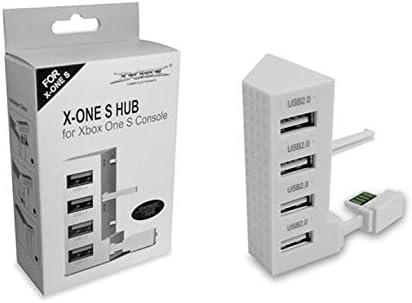 4 Puertos USB 2.0 HUB para Xbox One Slim Console USB Splitter ...