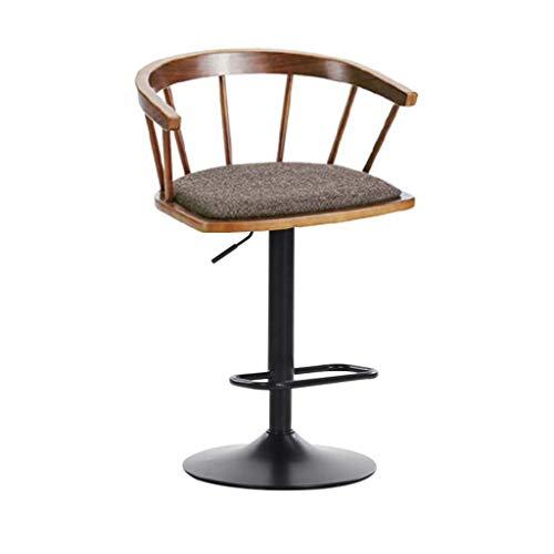 Derxer Solid Wood Bar Stool High Stool Rotating Bar Chair Fashion Simple Windsor Chair Home Lift Chair,A ()