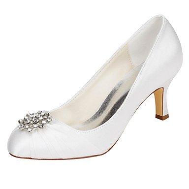RTRY Las Mujeres'S Wedding Shoes Bomba Básica De Satén Stretch Primavera Otoño Boda &Amp; Noche Bomba Básica Crystal Stiletto Talón Marfil 2A-2 3/4De Marfil Us9 / Ue40 / Uk7 / Cn41 US8.5 / EU39 / UK6.5 / CN40