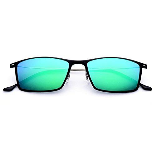 Hombres Deporte de de de SunglassesMAN Gafas polarizadas antideslumbrantes Sol Metal Hombres del los Gafas Gafas de los Las de Sol conducen Que de Marco del Yxsd de Sol Brown Green Color Gafas Sol del OOwTqE0