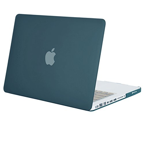 MOSISO Plastic Hard Shell Case Cover Only Compatible Old MacBook Pro 13 Inch (A1278 CD-ROM), Release Early 2012/2011/2010/2009/2008, Deep Teal