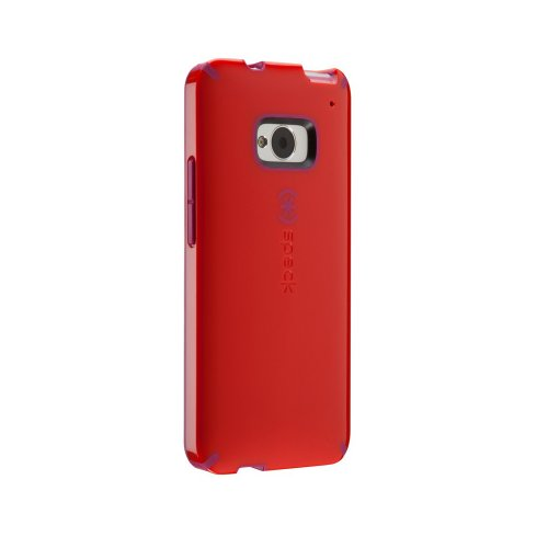 Speck Products CandyShell Glossy Case for HTC One Smartphone - 1 Pack  - Poppy Red/Fuchsia Pink