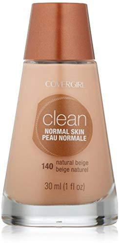 CoverGirl Clean Liquid Makeup, Natural Beige, 140 1 oz Pack of 4