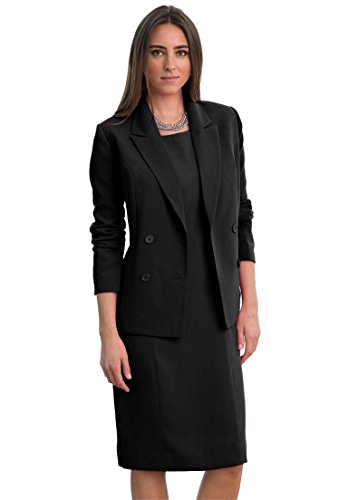 Jessica London Women's Plus Size Jessica London Jacket Dress Black,22