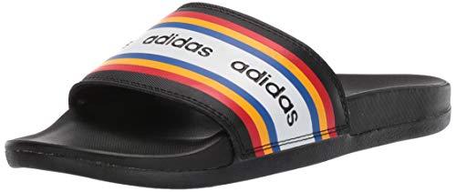 adidas Women's Adilette Comfort Slide Sandal, Black/Active Gold, 6 M US