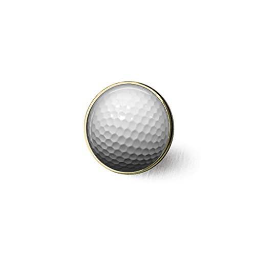 Golf Ball Tie Tack or Lapel Pin - Men's - Father's Day Brooch