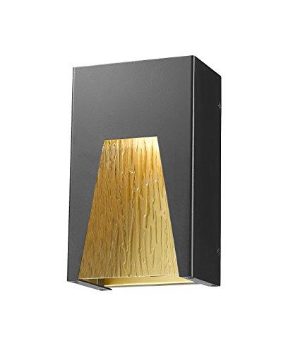Z-Lite 561S-BK-GD-CSL-LED 1 Outdoor Wall Light 1 (Gd 1 Light Outdoor Fixture)